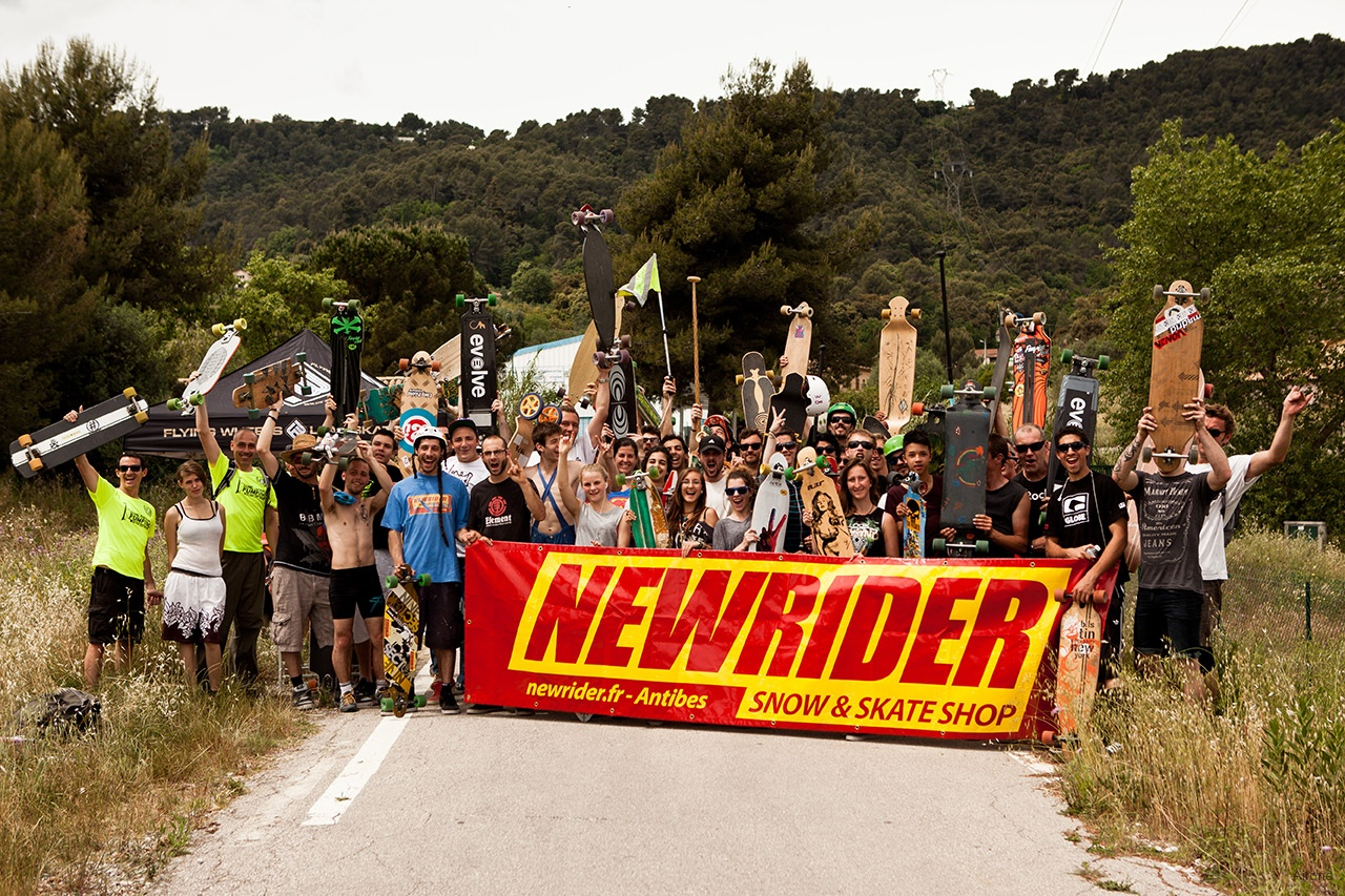 Antibes Newrider Long Distance Pushing & Pumping Longboard Race 2014
