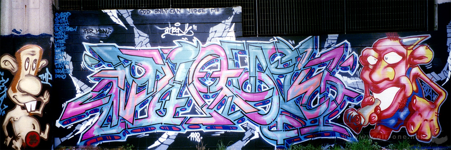 Airone + Zeta - Milano graffiti writing 1998