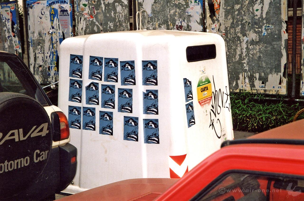 Airone stickers Milano 2000