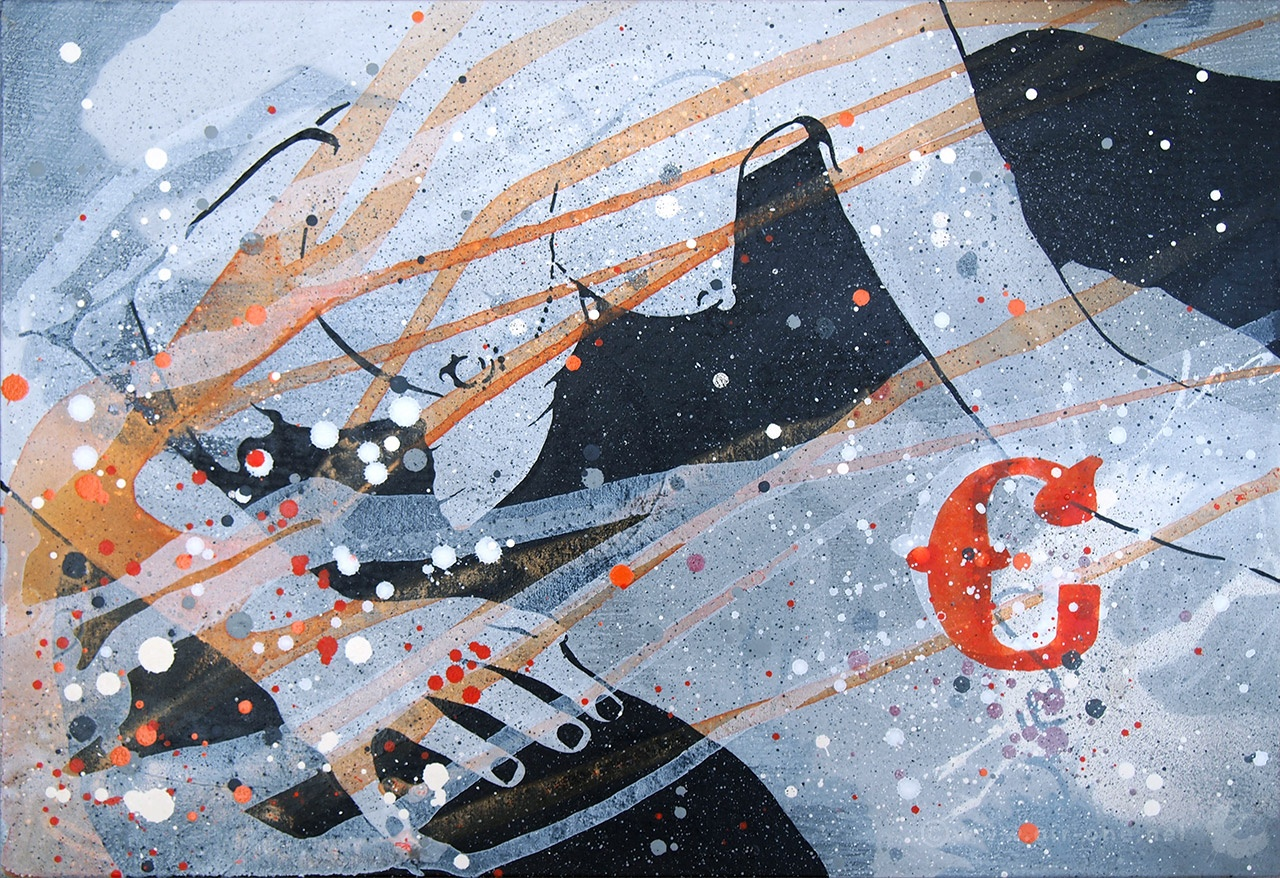 Airone - C - Mixed media on canvas 35x50 - 2013