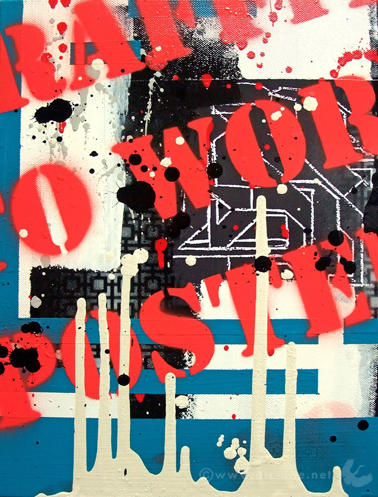 Airone - Frammento 2 - Mixed media on canvas - 30 x 24 - 2008