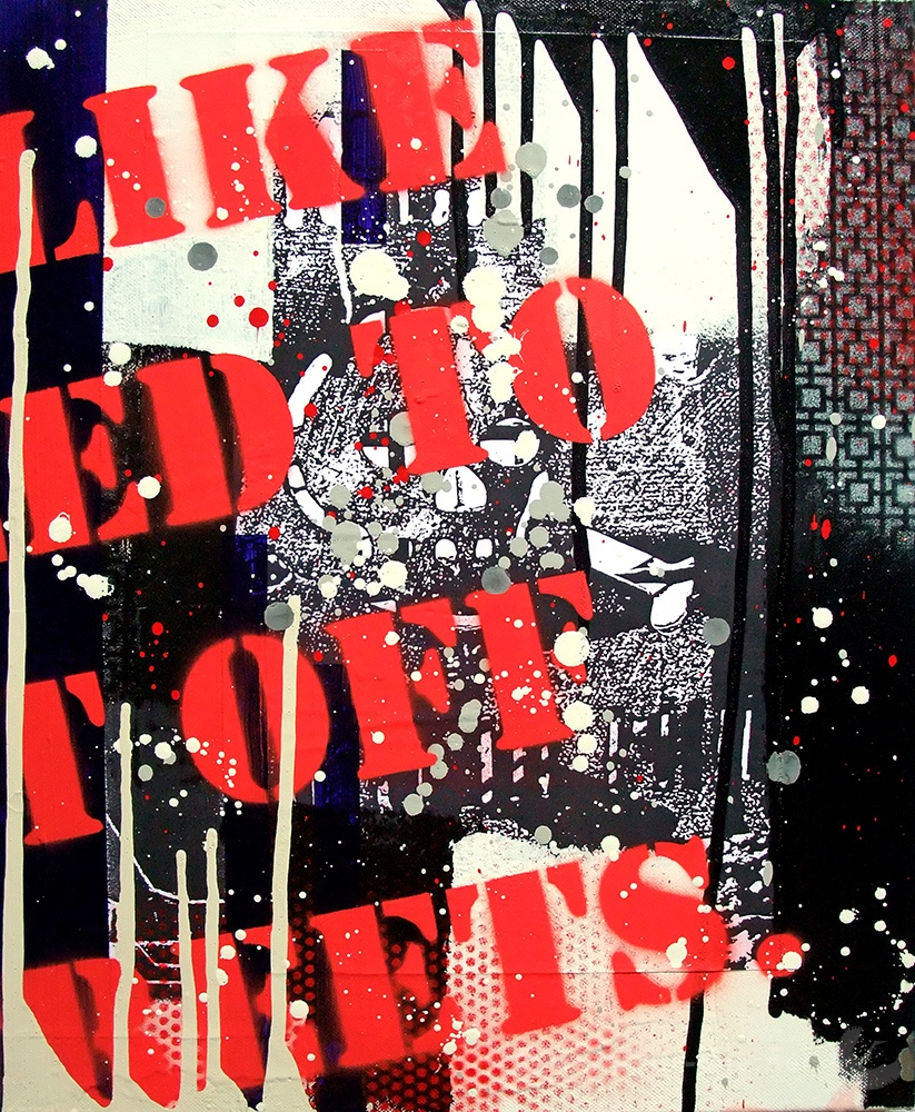 Airone - Frammento 1 - Mixed media on canvas - 30 x 24 - 2008