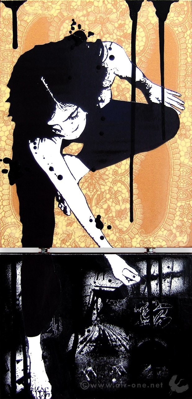 Airone - So Sweet  - Diptich, mixed media on canvas - 2007