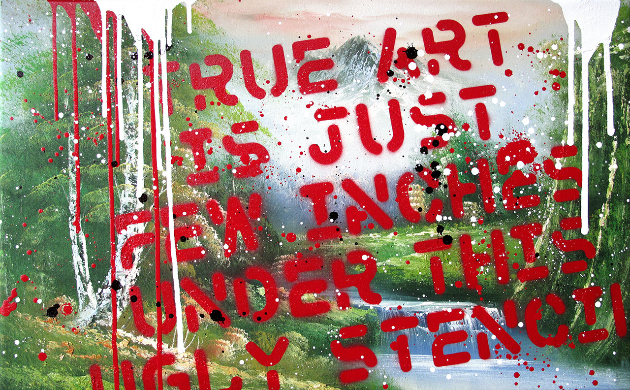 Airone - True Art - Mixed media on canvas 80x45 - 2009