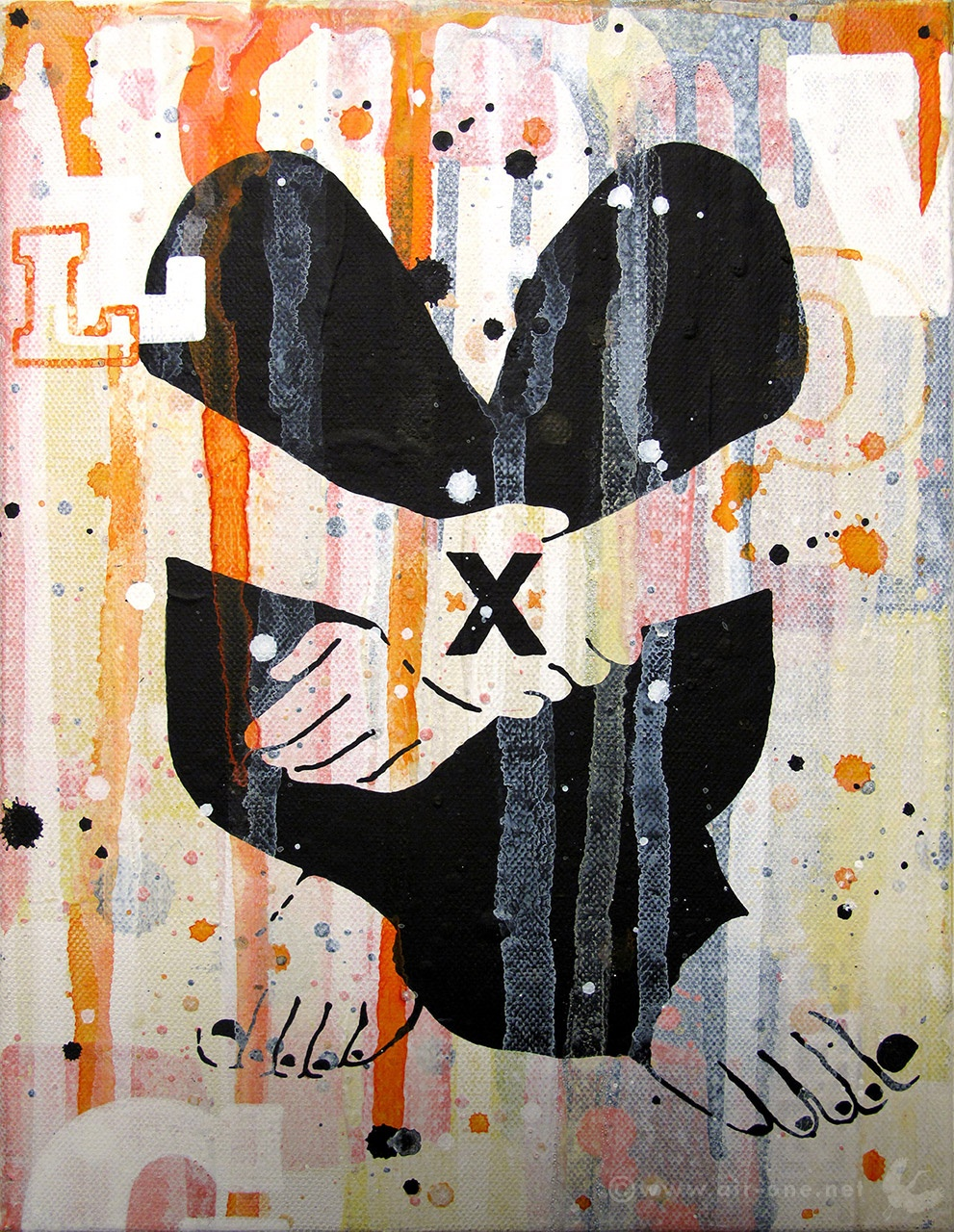 Airone - XXX - Mixed media on canvas 30x24 - 2011