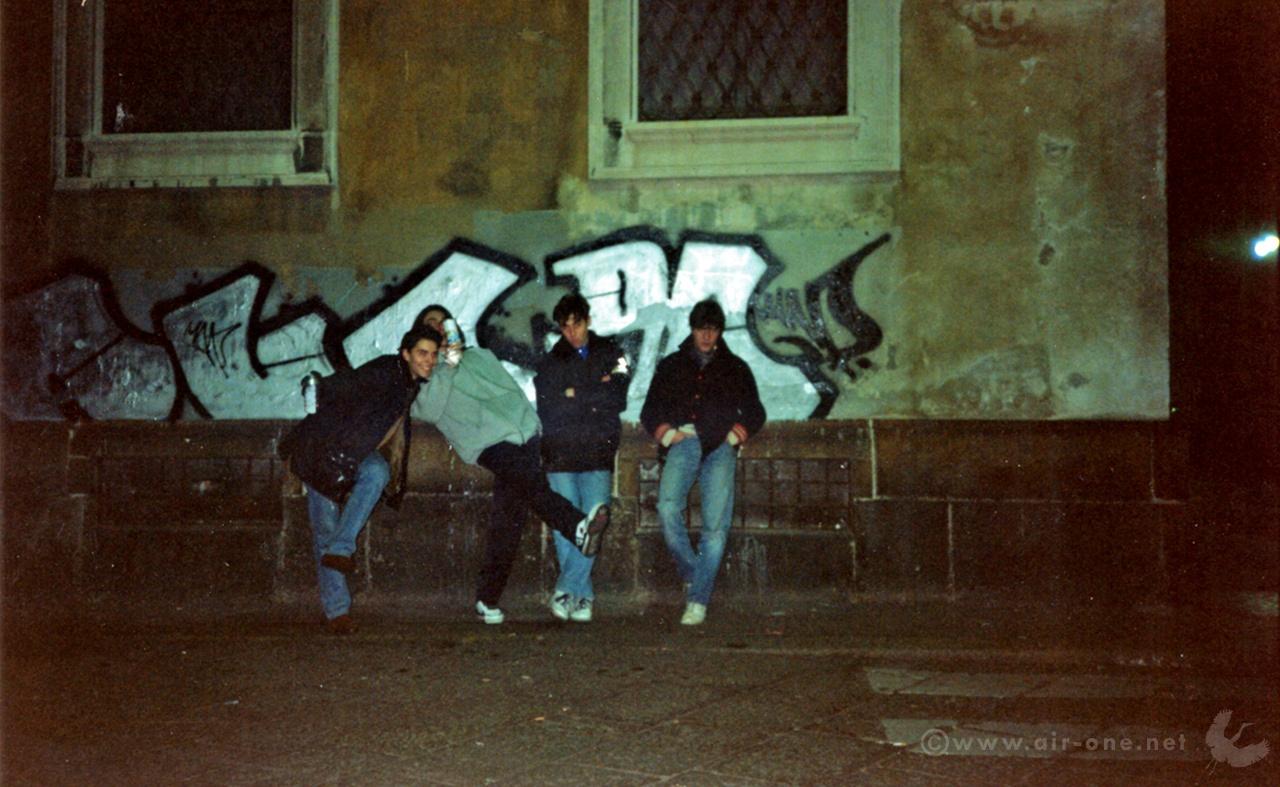 KayOne, Price, Airone, Rush - Christmas 1990 - Piazza del Duomo, Milano