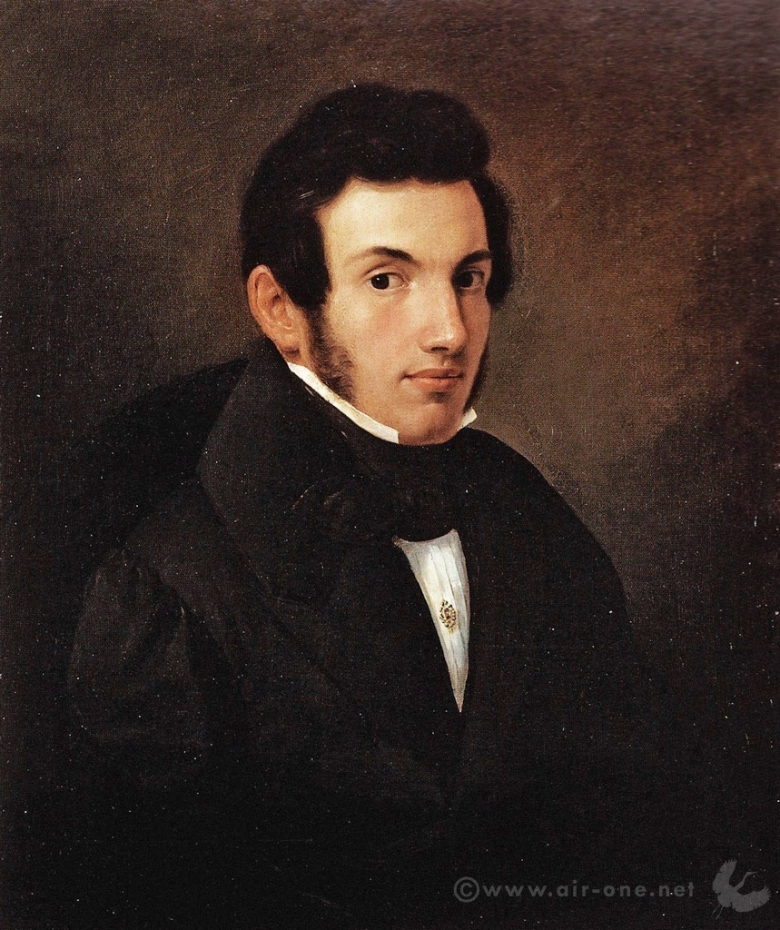 Airone: self portrait - Year 1839 - 60x51 oil on canvas
