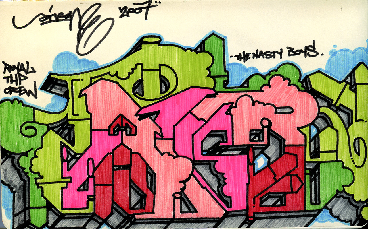 Airone - Blackbook sketch, 2008